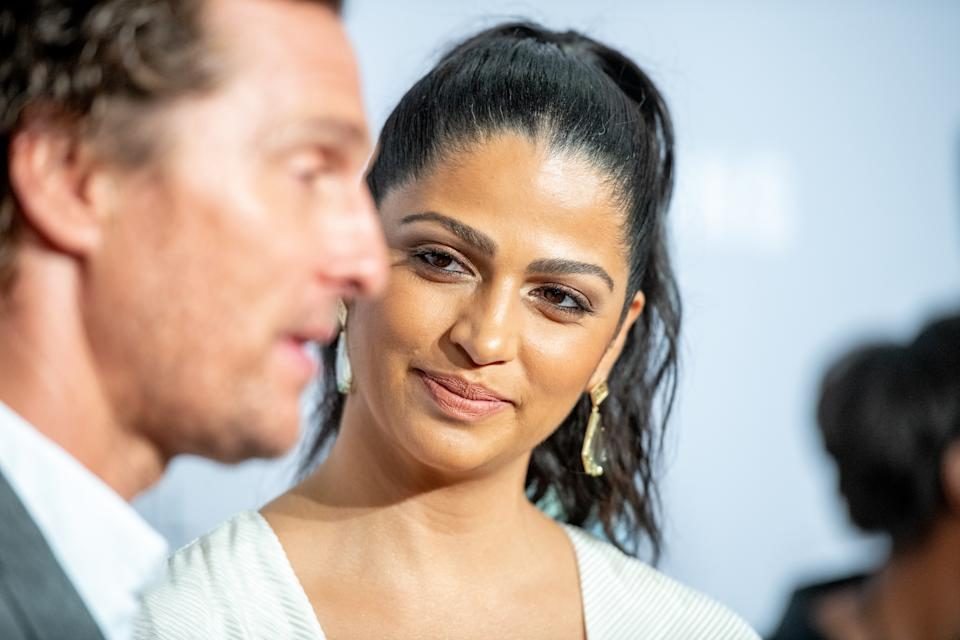 NEW YORK, NY - SEPTEMBER 27:  Matthew McConaughey and Camila Alves attend the 2018 Samsung Charity Gala at The Manhattan Center on September 27, 2018 in New York City.  (Photo by Roy Rochlin/Getty Images)