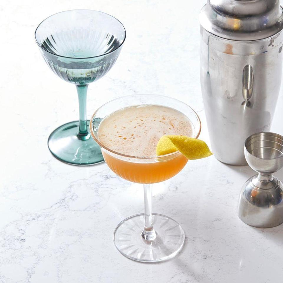 """<p>If you're seeking a classic that captures the vibrant colors of fall, then pucker for a proper cocktail! The citrus garnish gives us a feeling of autumn leaves.</p><p><em><a href=""""https://www.goodhousekeeping.com/food-recipes/a30213219/sidecar-cocktail-recipe/"""" rel=""""nofollow noopener"""" target=""""_blank"""" data-ylk=""""slk:Get the recipe for Classic Sidecar »"""" class=""""link rapid-noclick-resp"""">Get the recipe for Classic Sidecar »</a></em></p>"""