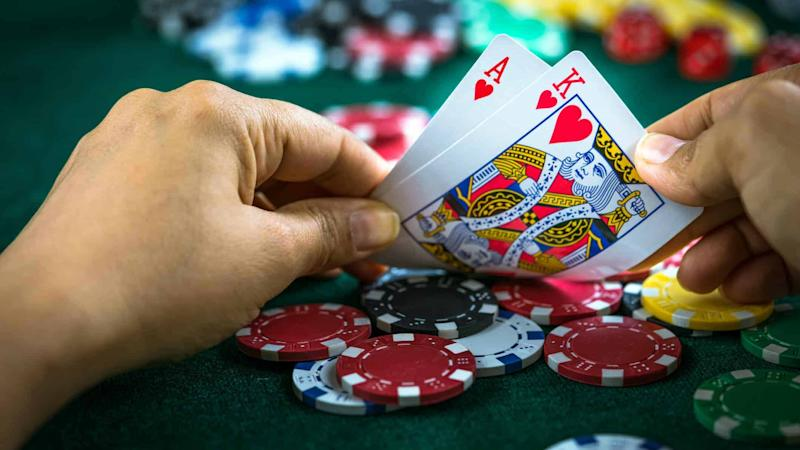 Casino Chips Winning Hand
