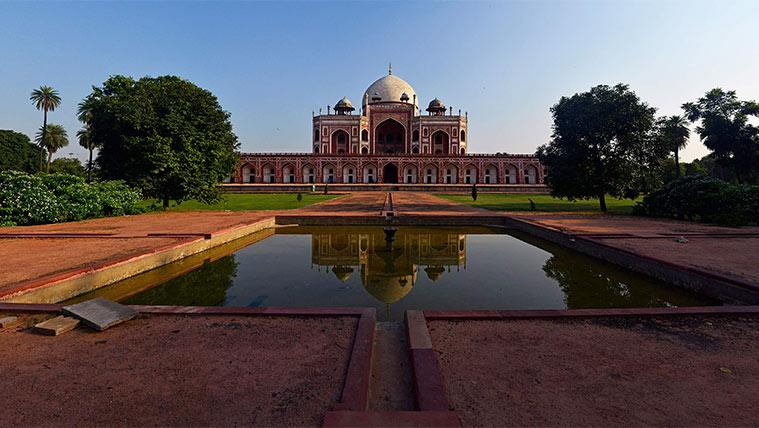 Humayun's Tomb, Humayun's Tomb Delhi, Humayun's Tomb UNESCO, Humayun's Tomb Baga Begum, monument of love, valentines day, indian express news