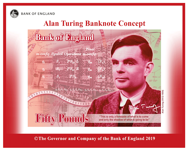 Alan Turing to be the face of new £50 note. Photo: Bank of England