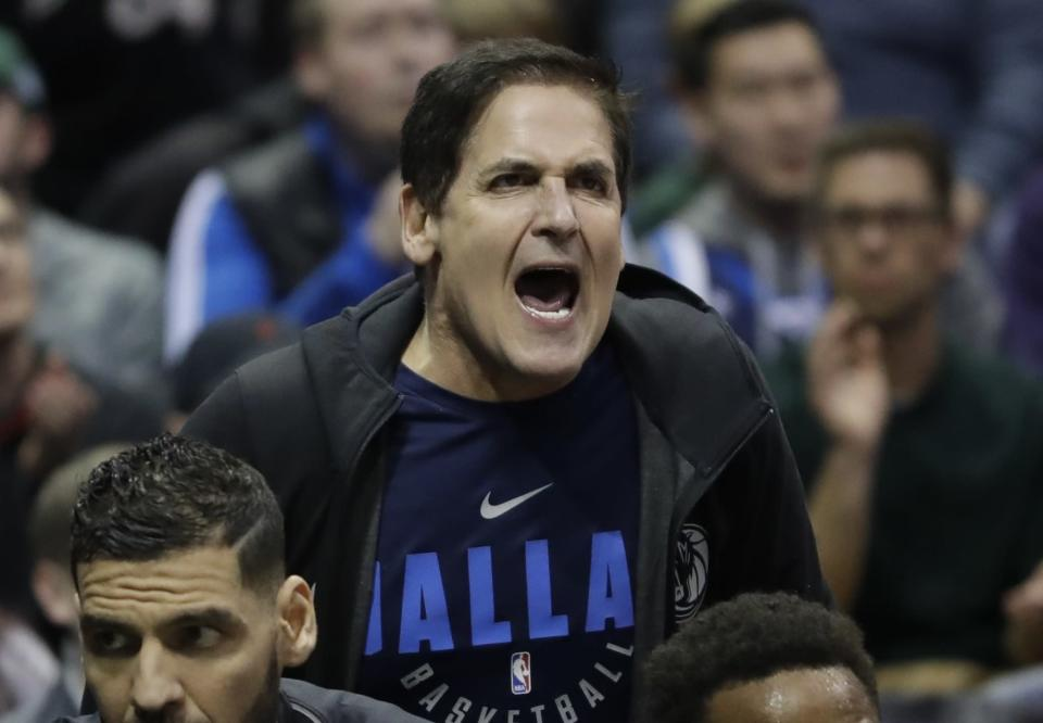 Mavericks owner Mark Cuban earned a $600,000 fine for his comments about tanking. (AP)