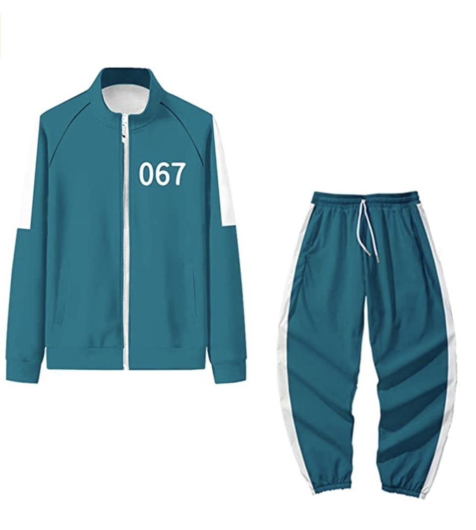 Squid Game Costume green tracksuit with number