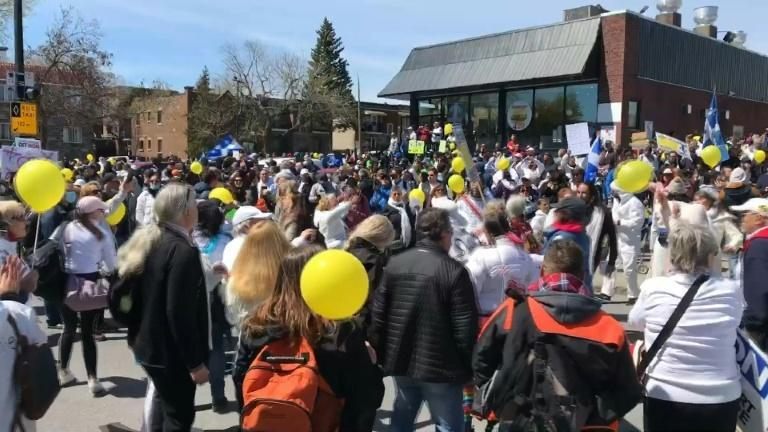 Protesters rally in Montreal against health restrictions