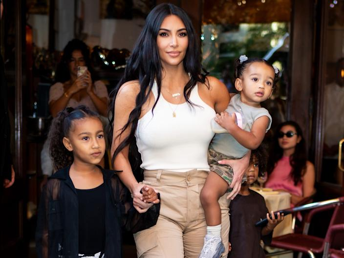 Kim Kardashian West has two daughters, North and Chicago.