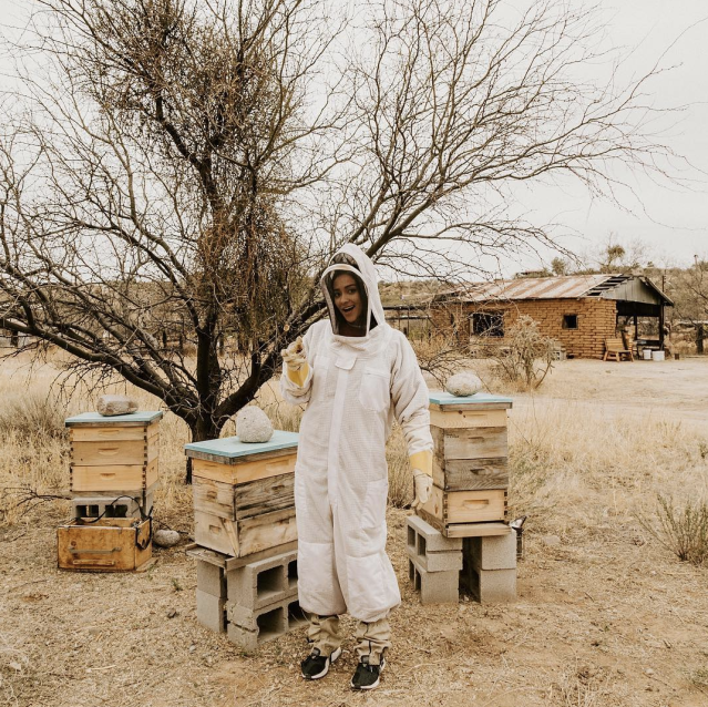 "<p>""I heard they are rebooting <em>Breaking Bad</em> so here I am going all method,"" joked the <em>Pretty Little Liars</em> star, in a full beekeeper getup. ""Kidding, I'm actually helping to save the world, one beehive at a time! #savethebees #beenice #bowdownthequeenB"" (Photo: <a href=""https://www.instagram.com/p/BfZfSydhZ7F/?taken-by=shaymitchell"" rel=""nofollow noopener"" target=""_blank"" data-ylk=""slk:Shay Mitchell via Instagram"" class=""link rapid-noclick-resp"">Shay Mitchell via Instagram</a>) </p>"