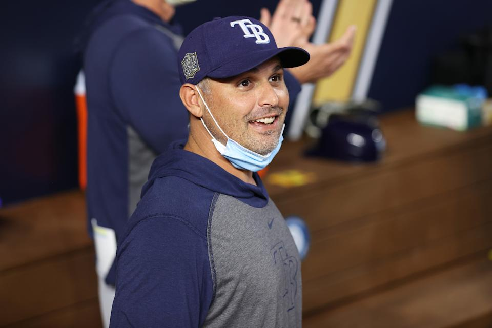 Kevin Cash of the Tampa Bay Rays wins AL Manager of the Year. (Photo by Alex Trautwig/MLB Photos via Getty Images)