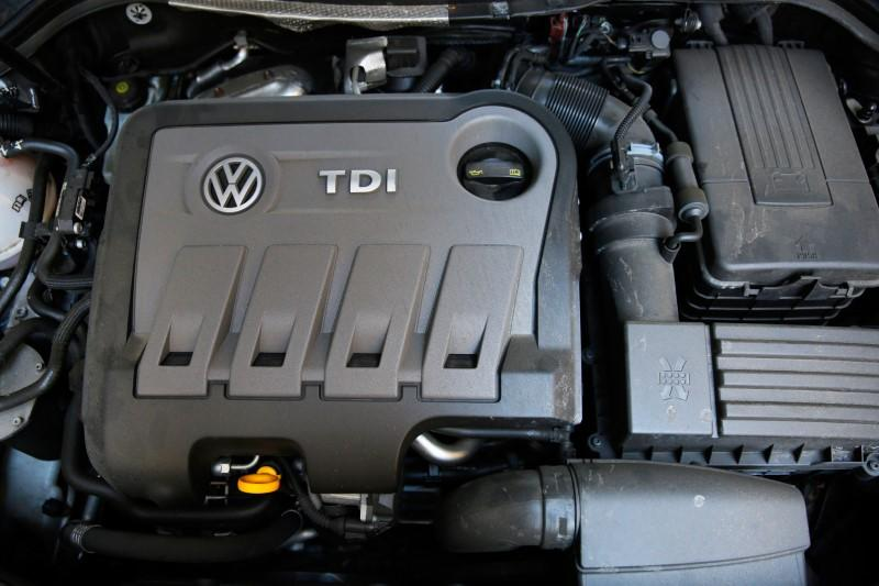 A Volkswagen Passat TDI diesel engine is seen in central London