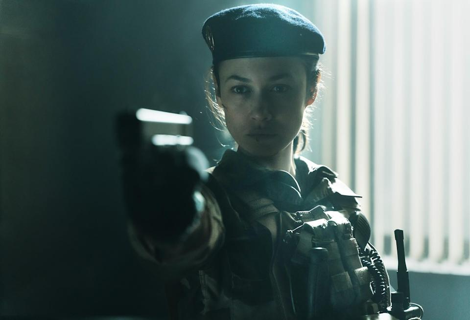 """<strong><em>Sentinelle</em></strong> (2021)<br><br>If you're missing seeing a good action movie on the big screen, why not try watching <em>Sentinelle</em> on the small screen? Following an ex-soldier as she returns home after a traumatising mission, this French film keeps things high stakes when she must once again use her lethal skills to track down a man bringing harm to her sister. <br><br>Available 5th March <span class=""""copyright"""">Photo Courtesy of Netflix.</span>"""