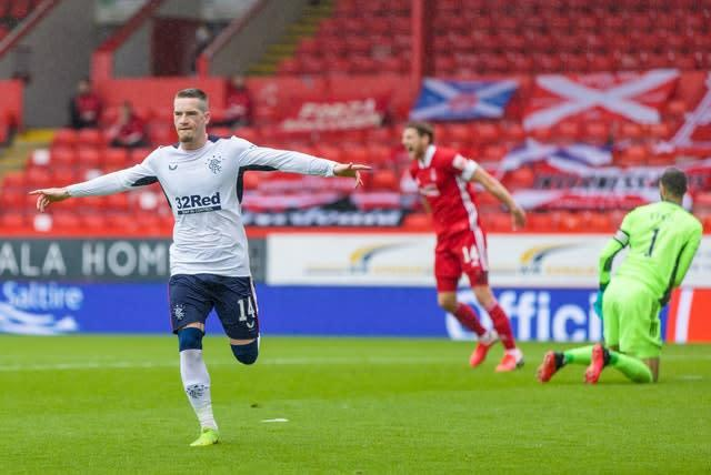 Ryan Kent scored the only goal of the game at Pittodrie (Willie Vass/PA)
