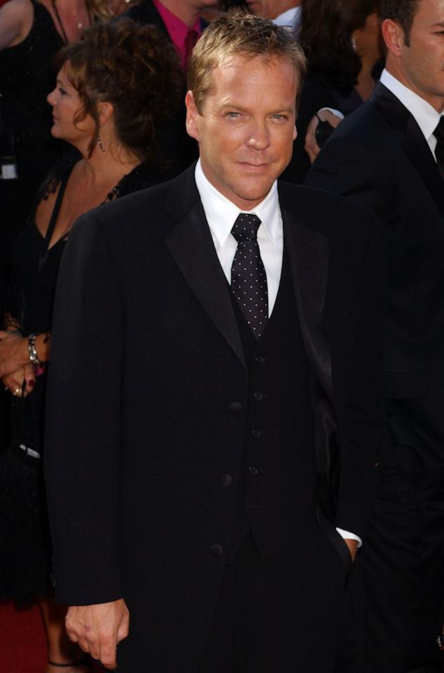 Kiefer Sutherland at the 56th Annual Primetime Emmy Awards in Los Angeles, California on September 19, 2004.