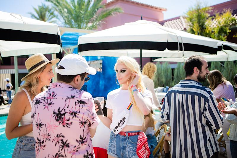 Aquaria attends Levi's Desert Party at the Sand Hotel and Spa during weekend one of Coachella on Saturday, April 13, 2019. Photograph by Alex Welsh for W magazine.