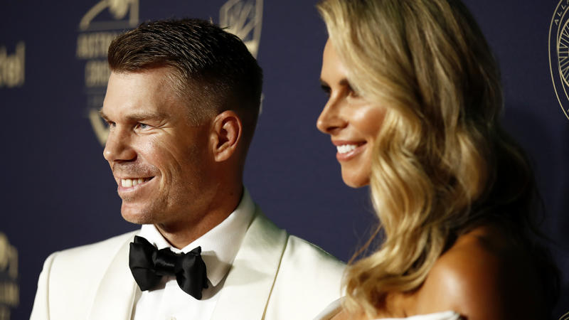 A week after winning his third Allan Border Medal, David Warner has opened up about how his wife, Candice, helped him curb his heavy-drinking ways. (Photo by Daniel Pockett/Getty Images)