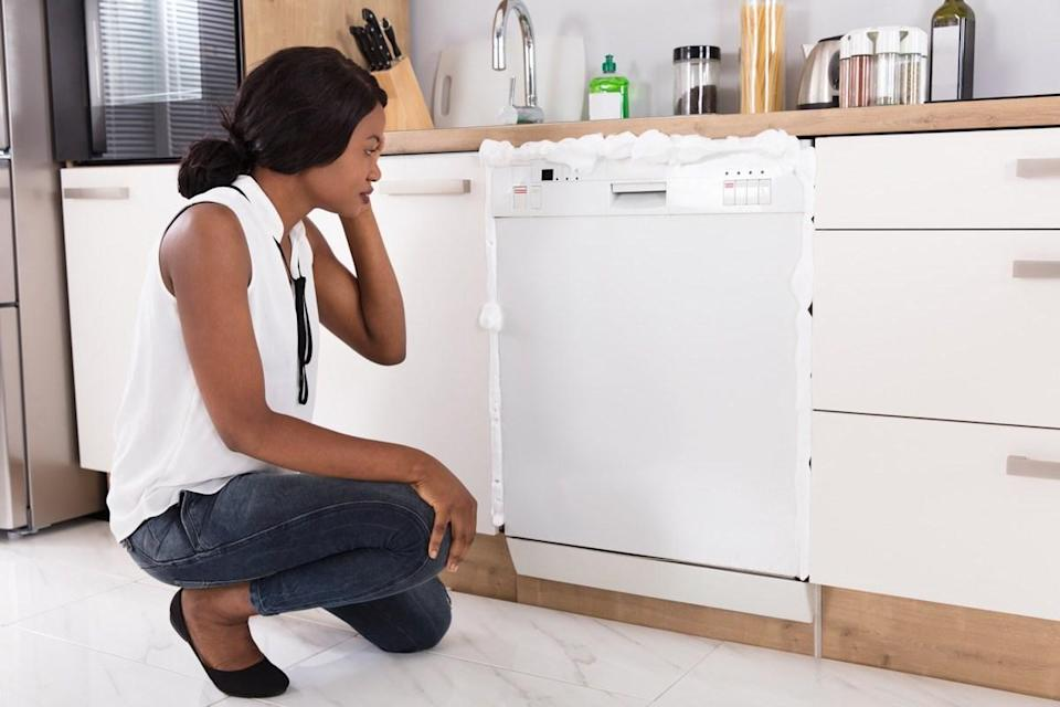 """While <a href=""""https://bestlifeonline.com/how-long-appliances-last/?utm_source=yahoo-news&utm_medium=feed&utm_campaign=yahoo-feed"""" rel=""""nofollow noopener"""" target=""""_blank"""" data-ylk=""""slk:replacing appliances"""" class=""""link rapid-noclick-resp"""">replacing appliances</a> can be a costly endeavor, failing to do so when they start malfunctioning is a mistake that can be far more expensive in the long run. """"A faulty appliance can send surges of electricity into your home's electrical system and the resulting damage can range from a tiny bit of wear and tear on other appliances to a destructive <a href=""""https://bestlifeonline.com/winter-house-fires/?utm_source=yahoo-news&utm_medium=feed&utm_campaign=yahoo-feed"""" rel=""""nofollow noopener"""" target=""""_blank"""" data-ylk=""""slk:electrical fire"""" class=""""link rapid-noclick-resp"""">electrical fire</a>,"""" Dawson says. When in doubt, have a professional come service the appliance at the first sign of trouble—and if they suggest replacing it, heed their warning."""