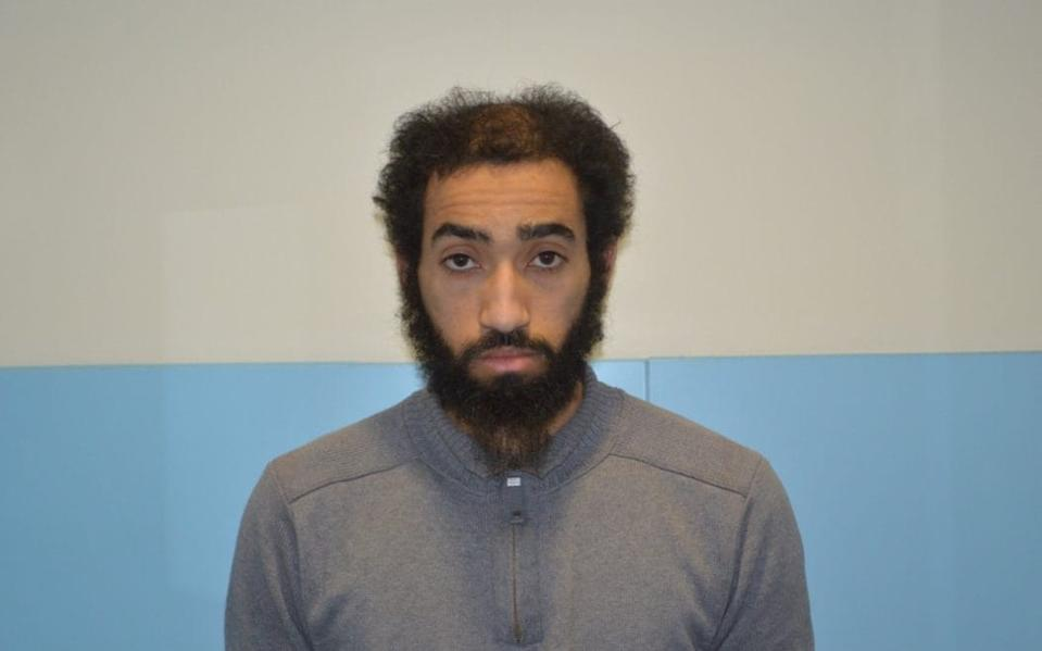 Ahmed Aweys has been sent back to prison (Picture: Met Police)