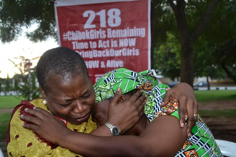 The Chibok girls were abducted in April 2014, drawing global attention to the Boko Haram insurgency engulfing the area when US First Lady Michelle Obama joined the #BringBackOurGirls online movement (AFP Photo/)