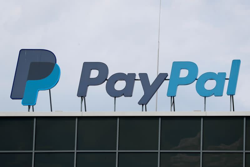 FILE PHOTO: The German headquarters of PayPal is pictured at Europarc Dreilinden business park south of Berlin in Kleinmachnow