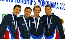 <p>While Phelps did not medal at his first Olympics in Sydney, the promising young swimmer helped the USA relay team bring home a gold medal and set a new world record at the Pan Pacific Swimming Championships in Japan. The relay event would go on to become one of Phelps' best events at the Olympics. </p>