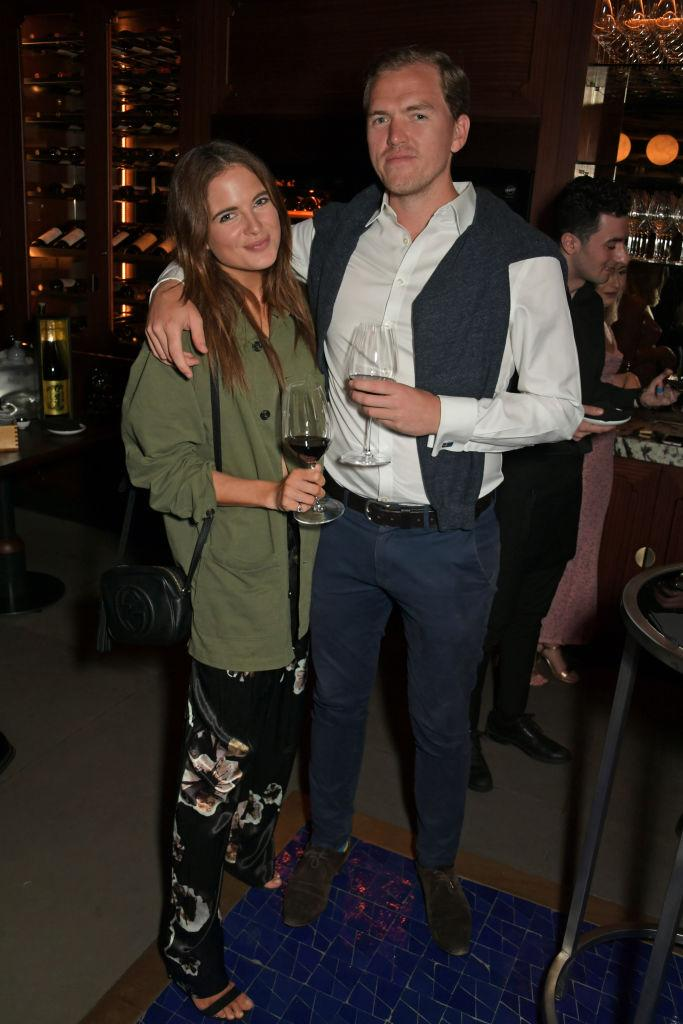 Binky Felstead and her fiance Max Darnton were expecting a child together, pictured here September 2019. (Getty Images)