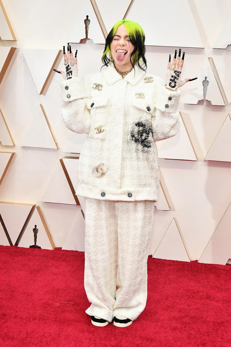 Billie Eilish in Chanel attends the 92nd Annual Academy Awards at Hollywood and Highland on February 09, 2020 in Hollywood, California. (Photo by Amy Sussman/Getty Images)