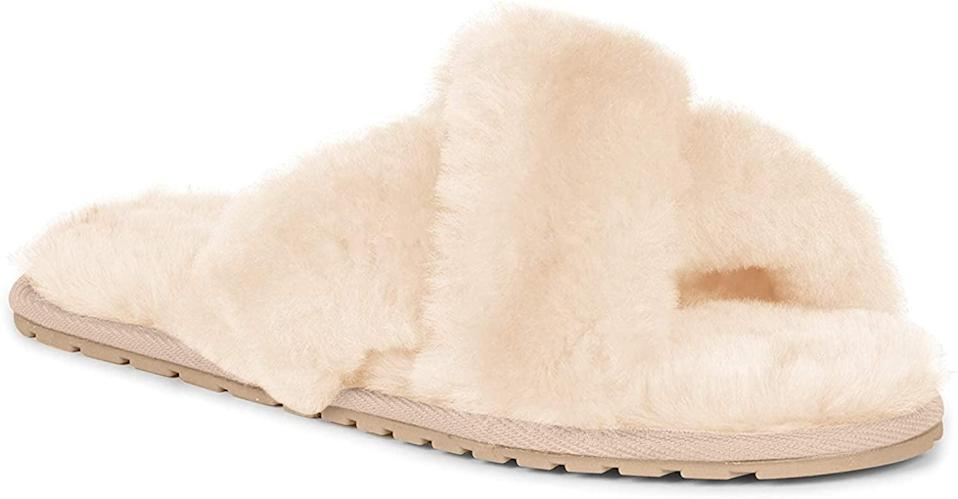<p>You can't go wrong with these <span>EMU Australia Mayberry Slippers</span> ($60) in its classic neutral shade.</p>