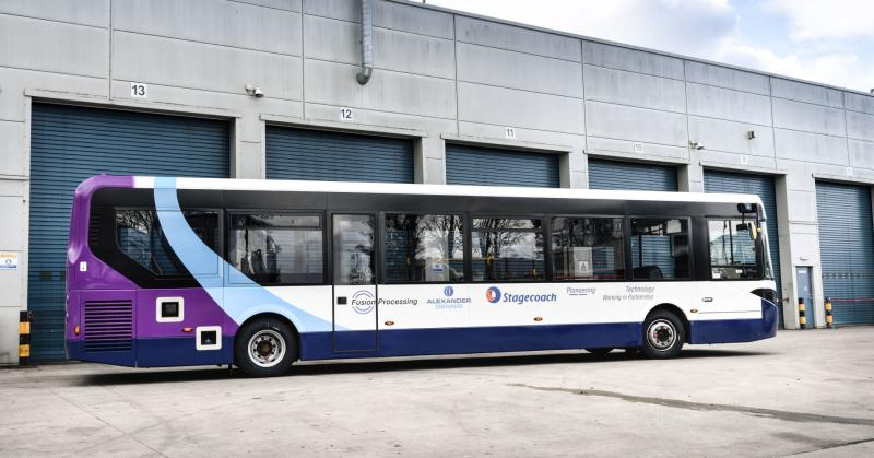 UK's first self-driving bus begins trials
