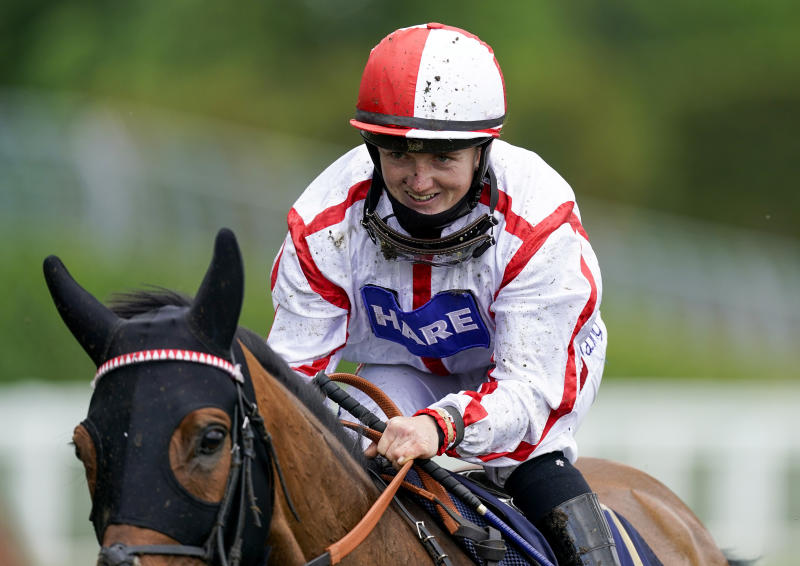 Hollie Doyle after riding Scarlet Dragon to win The Duke of Edinburgh Stakes at Royal Ascot, becoming only the third woman jockey to win at the famous meeting