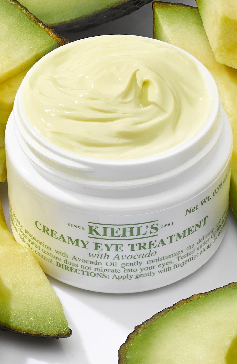<p>Give your under eye area some extra love with the nourishing <span>Kiehl's Creamy Eye Treatment with Avocado</span> ($32-$50).</p>