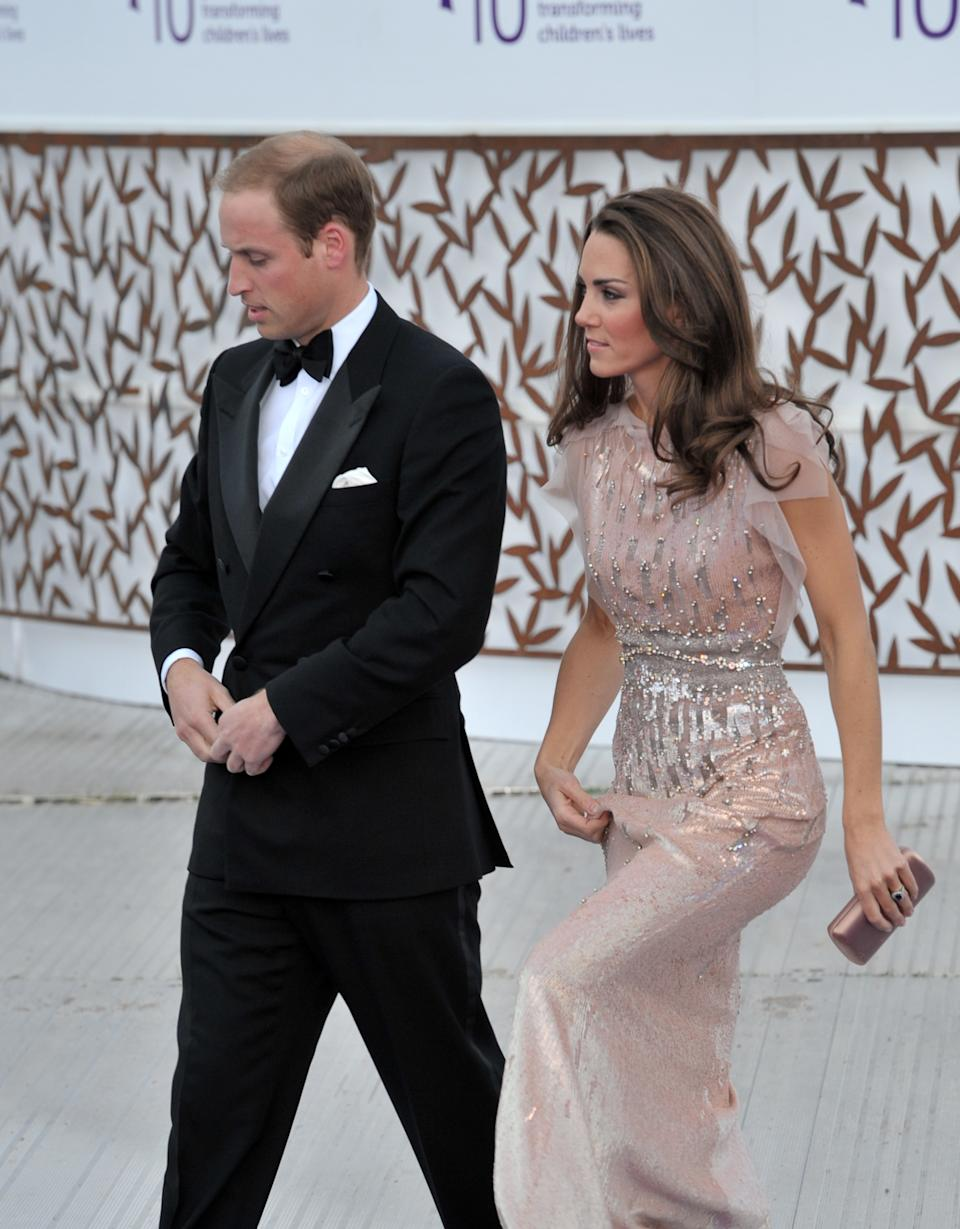 LONDON, UNITED KINGDOM - JUNE 09: Prince William, Duke of Cambridge and Catherine, Duchess of Cambridge attend the 10th Annual ARK gala dinner at Kensington Palace on June 9, 2011 in London, England. (Photo by Nick Harvey/WireImage)
