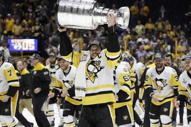 Where Sidney Crosby ranks on the all-time list is up for debate, but who can argue that he's been the single-most dominant force of a generation? (AP Photo/Mark Humphrey)