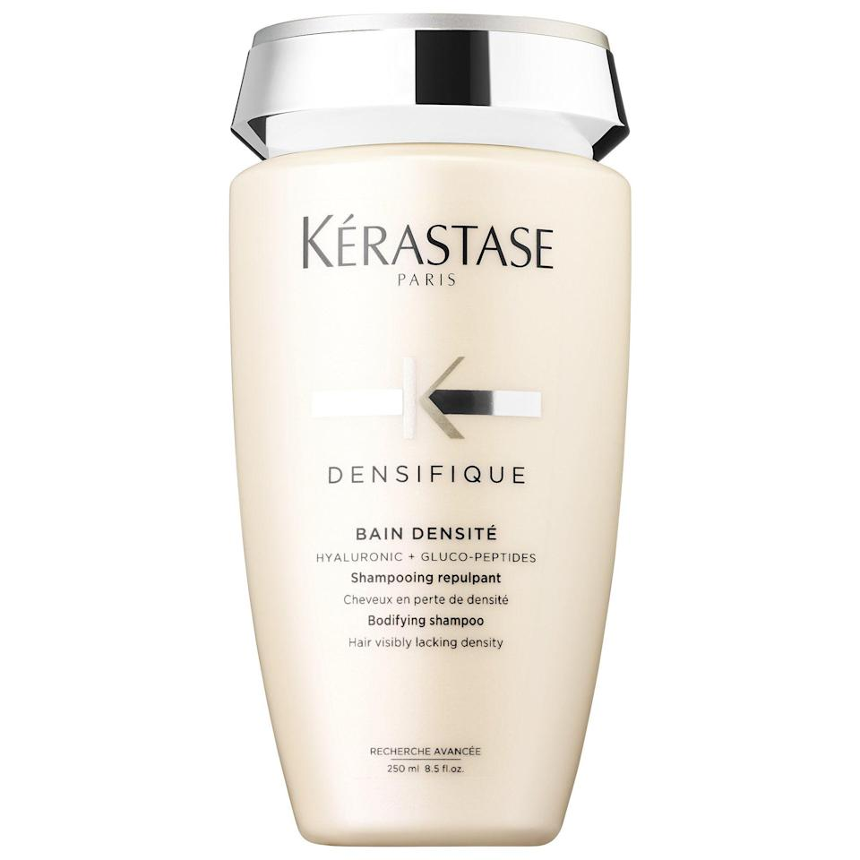 """<p><strong>Kérastase</strong></p><p>sephora.com</p><p><strong>$35.00</strong></p><p><a href=""""https://go.redirectingat.com?id=74968X1596630&url=https%3A%2F%2Fwww.sephora.com%2Fproduct%2Fdensifique-bodifying-shampoo-P434440&sref=https%3A%2F%2Fwww.goodhousekeeping.com%2Fbeauty-products%2Fg32715498%2Fbest-shampoos-brands%2F"""" rel=""""nofollow noopener"""" target=""""_blank"""" data-ylk=""""slk:Shop Now"""" class=""""link rapid-noclick-resp"""">Shop Now</a></p><p>Luxurious salon brand Kérastase's shampoo infused with skincare ingredients like peptides topped the GH Beauty Lab's <a href=""""https://www.goodhousekeeping.com/beauty-products/shampoo-reviews/g793/hair-thickening-shampoo/"""" rel=""""nofollow noopener"""" target=""""_blank"""" data-ylk=""""slk:volumizing shampoo and conditioner"""" class=""""link rapid-noclick-resp"""">volumizing shampoo and conditioner</a> test. Used with its matching conditioner, it <strong>ranked best for making hair feel thicker and look fuller</strong>. Tester called it the """"holy grail"""" that """"truly worked"""" for """"all-day body."""" Another agreed: """"My hair never felt weighed down and didn't go limp midday.""""<br></p>"""