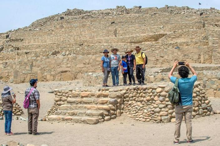 The Caral archeological site in Peru has been reopen to tourists since October, 2020 after months of lockdown due to the coronavirus