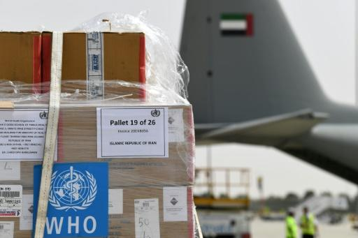 The United Arab Emirates sent a military plane carrying UN medical experts and aid to Iran, despite tensions with