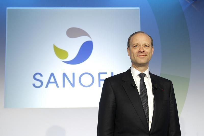 Chris Viehbacher, CEO of Sanofi, poses during a news conference to present Sanofi 2011 annual results in Paris