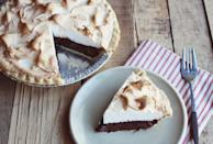 "<p>Turn the beloved drink into a delicious dessert when you whip up this recipe. Rich mocha filling combined with a creamy meringue topping makes this the perfect treat at any hour of the day. Pair it with a cup of of hot coffee for the best results.</p> <p><strong>Get the recipe:</strong> <a href=""https://abeautifulmess.com/mocha-meringue-pie/"" class=""link rapid-noclick-resp"" rel=""nofollow noopener"" target=""_blank"" data-ylk=""slk:mocha meringue pie"">mocha meringue pie</a></p>"