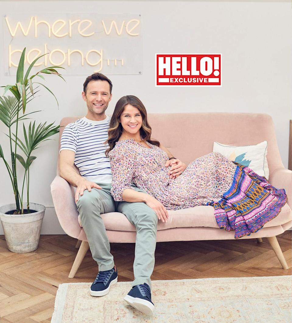 The couple photographed in Hello! magazine (Hello!)