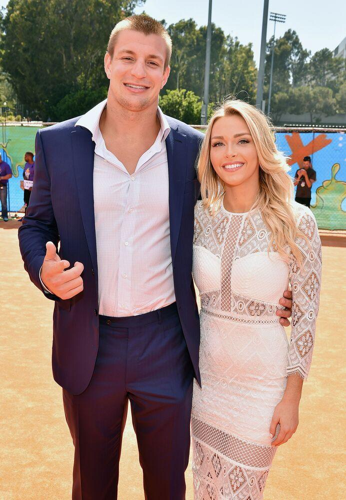 Rob Gronkowski and Camille Kostek | Dave Mangels/Getty