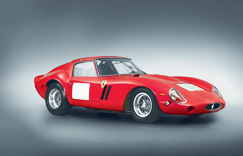 This undated photo obtained August 15, 2014, courtesy of Bonhams Auctioneers, shows a 1962 Ferrari 250 GTO Berlinetta, one of 36 built in 1961-64