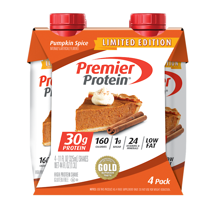 <p>If you're trying to get swole...or maybe just hold yourself over from lunch to dinner, you need these festive protein shakes in your life. Pro-tip: Put one of these in your iced coffee for a seasonal treat while it's still pretty hot out. </p>