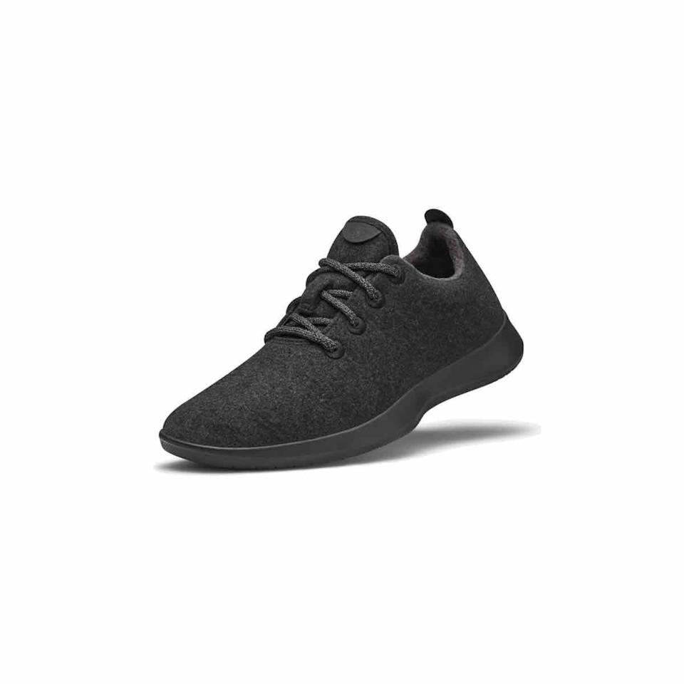 """<p><strong>Allbirds</strong></p><p>allbirds.com</p><p><strong>$95.00</strong></p><p><a href=""""https://go.redirectingat.com?id=74968X1596630&url=https%3A%2F%2Fwww.allbirds.com%2Fproducts%2Fmens-wool-runners-natural-black&sref=https%3A%2F%2Fwww.oprahdaily.com%2Flife%2Fg26961897%2Fgifts-for-new-dads%2F"""" rel=""""nofollow noopener"""" target=""""_blank"""" data-ylk=""""slk:Shop Now"""" class=""""link rapid-noclick-resp"""">Shop Now</a></p><p>Is there anyone busier than a new parent? Someone who has to be on their feet as much as he does deserves comfortable kicks. These sneakers, made of merino wool, are as close as you can get to walking on a cloud. </p>"""