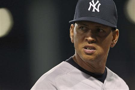 File photo of Yankees' Rodriguez during MLB American League baseball game against the Red Sox in Boston