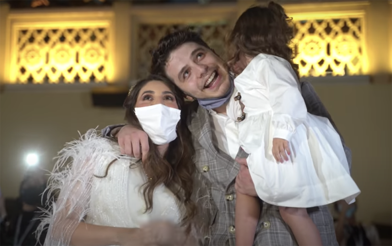 "Syrian-Canadian YouTuber Anas Marwah had social media users slamming him and his wife after they attempted the ""biggest gender reveal ever"". Photo: YouTube/Anasala Family"