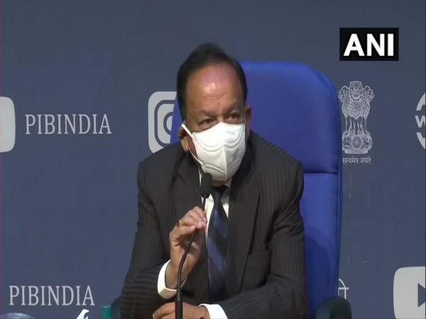 Union Health Minister Dr Harsh Vardhan addressing the curtain-raiser press conference on India International Science Festival 2020 on Monday. [Photo/ANI]