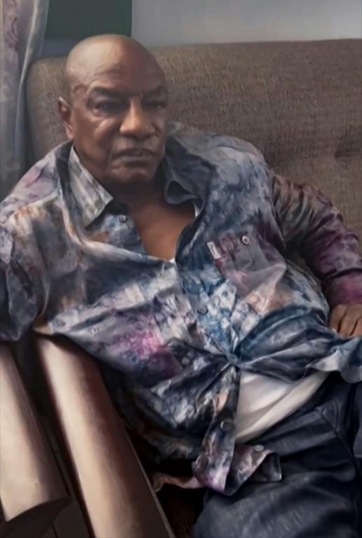 A screengrab showing Alpha Conde after he was captured by army putschists during a coup in Conakry on September 5 (AFP/-)