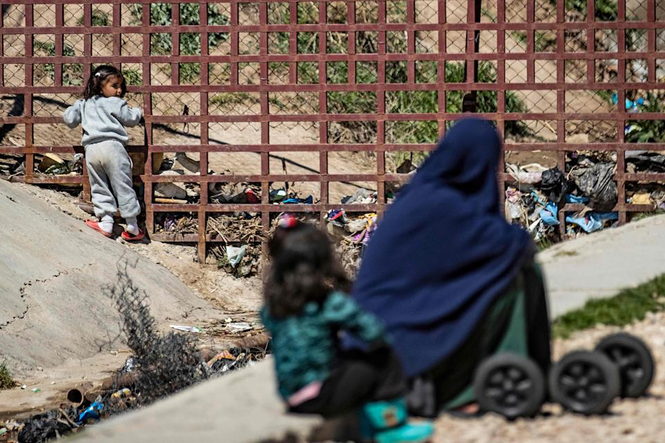 British women and children are being detained in camps indefinitely in north-east SyriaAFP via Getty Images
