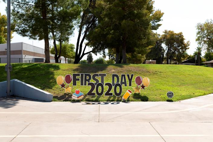 Image: Rover Elementary School in Tempe, Ariz., on Aug. 17, 2020. (Cheney Orr / Reuters file)
