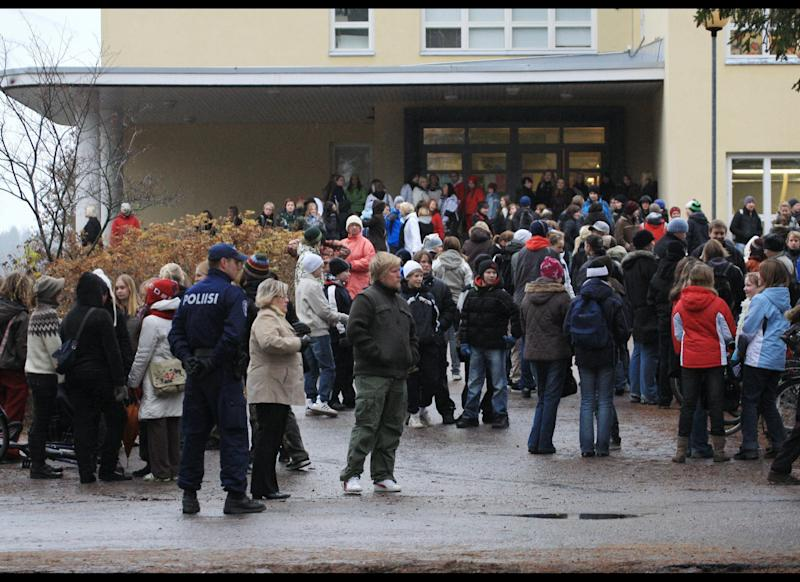 Eighteen-year-old Pekka-Eric Auvinen kills seven fellow students and a teacher at Jokela High School in Tuusula, Finland before shooting himself.