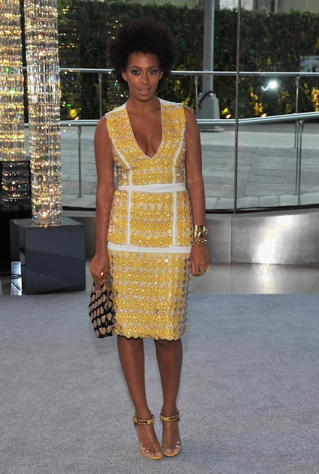 NEW YORK, NY - JUNE 04:  Solange Knowles  attends the 2012 CFDA Fashion Awards at Alice Tully Hall on June 4, 2012 in New York City.  (Photo by Larry Busacca/Getty Images)