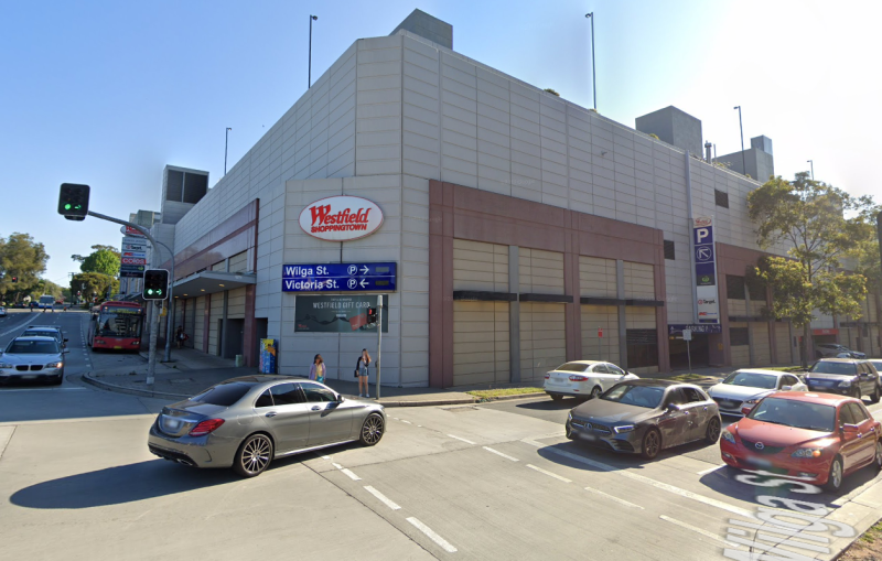 Westfield Burwood shoppers have been issued a coronavirus warning. Pictured is a Google Maps image of the shopping centre in Sydney.