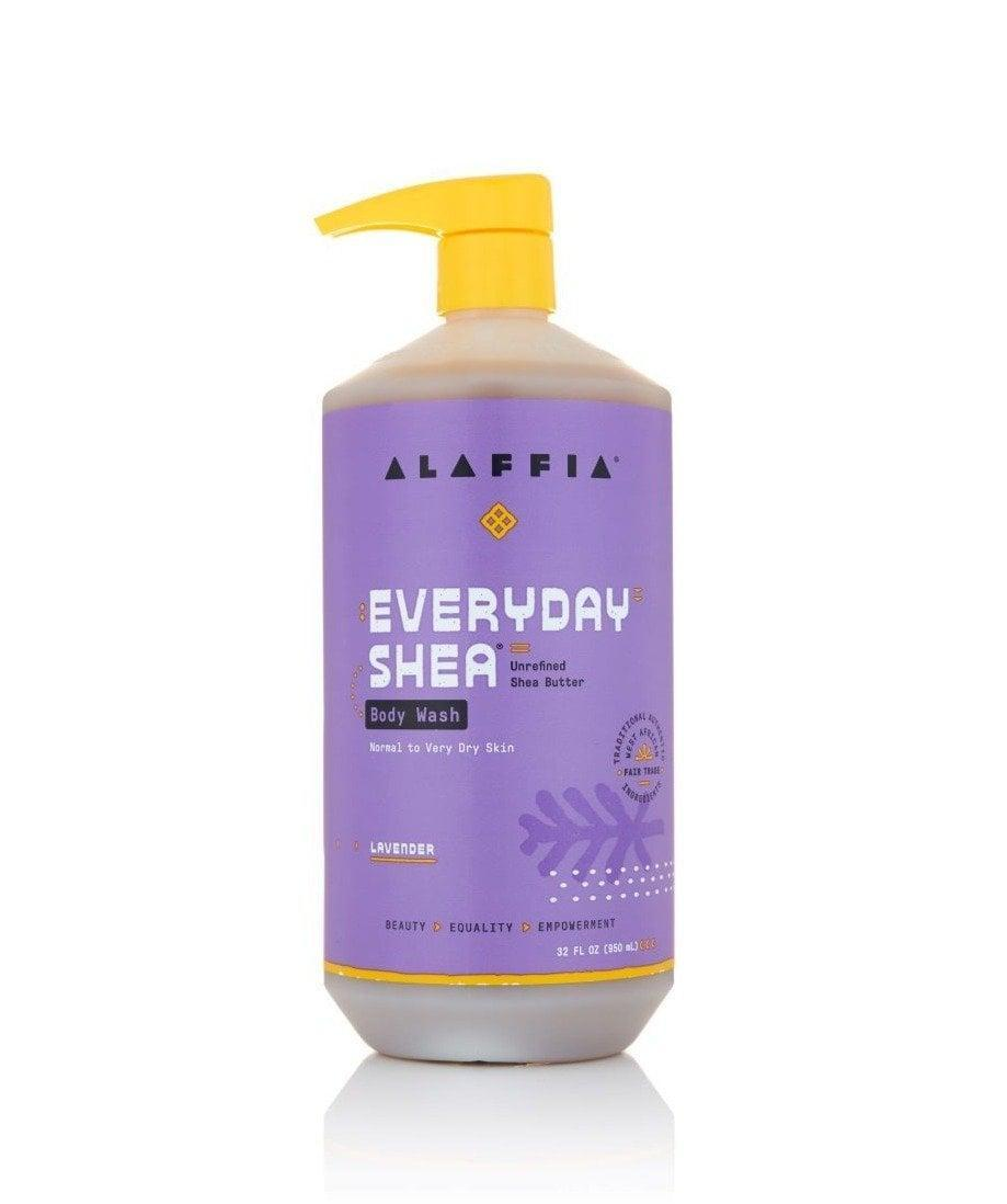 <p>Handcrafted using ingredients like lavender and ethically traded shea butter, the <span>Alaffia EveryDay Shea Lavender Body Wash</span> ($15) cleanses the skin of dirt and pollutants and is gentle enough to be used daily.</p>